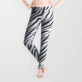 Abstract grey white pattern . Leggings