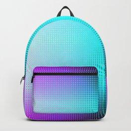 Purple Blue Black Ombre Hexagons Bi-lobe Contact binary Backpack