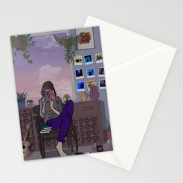On a winter afternoon Stationery Cards