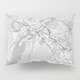 Potsdam Map Line Pillow Sham