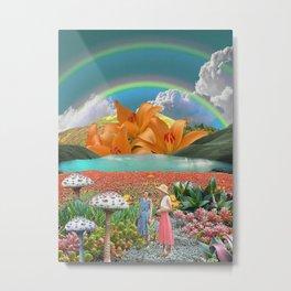 The mushrooms of rainbow hills Metal Print