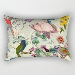 Floral and Birds VIII Rectangular Pillow