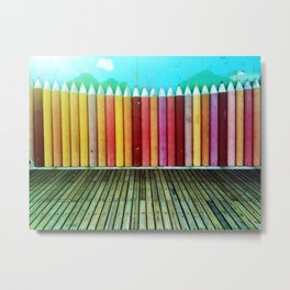 Nanchang Pencils I Metal Print