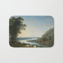 Capriccio View of the River Volturno with Monte Epomeo beyond by Jakob Philipp Hackert. Bath Mat