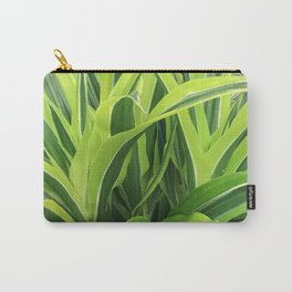 Exotic Lush Green Leaves Carry-All Pouch