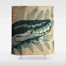 Ball Python Portrait Shower Curtain