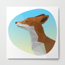 Low-Poly fox Metal Print