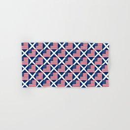 Mix of flag: usa and scotland Hand & Bath Towel