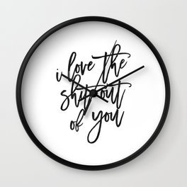 Love Sign,Love Quote,I Love You,I Love You More,Gift For Her,Gift For Him,Wall Art,Printable Art Wall Clock