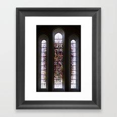 shining light. Framed Art Print