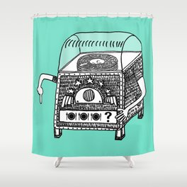 hungry jukebox Shower Curtain