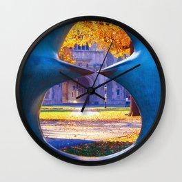 The Blair Hall Gate Viewed through a Sculpture,Princeton University, New Jersey Wall Clock