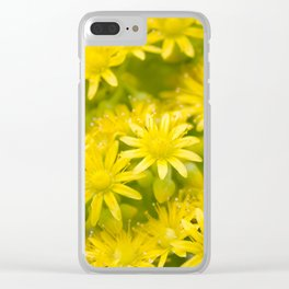 Dreamy Spiral Yellow Flowers Clear iPhone Case
