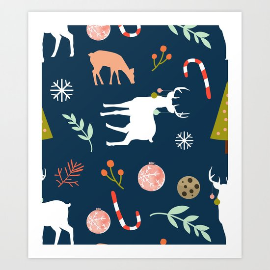 Christmas Spirit #society6 #decor #buyart Art Print