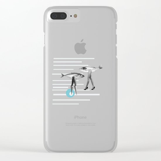 at beach Clear iPhone Case