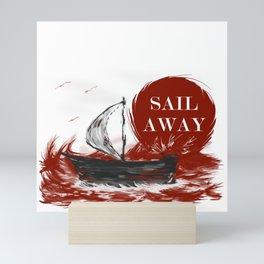 Dramatic sail away Mini Art Print