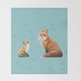Fox Tenderness Throw Blanket