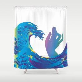 Hokusai Rainbow & Hand Shower Curtain