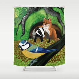 Of foxes and badgers Shower Curtain