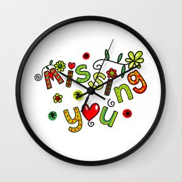Missing You Text Expression Wall Clock