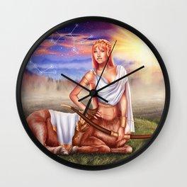Sagittarius OC - 12 Zodiac Ladies Wall Clock