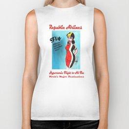 Barbara of Republic Airlines Biker Tank