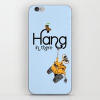 pixar iPhone & iPod Skins featuring Pixar/Disney Wall-e Hang in There by Teacuppiranha