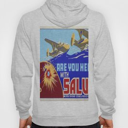 Vintage poster - Are You Helping with Salvage? Hoody