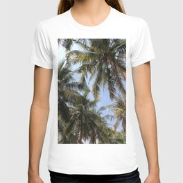Tropical Island Palm Trees and Blue Skies T-shirt