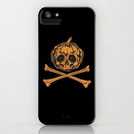 Pumpkin Pirate Skull Gift iPhone Case