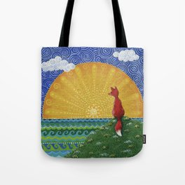 Fox in the Morning Tote Bag