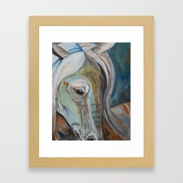 Painted Warrior Framed Art Print