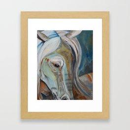 Painted Warrior Framed Art Print
