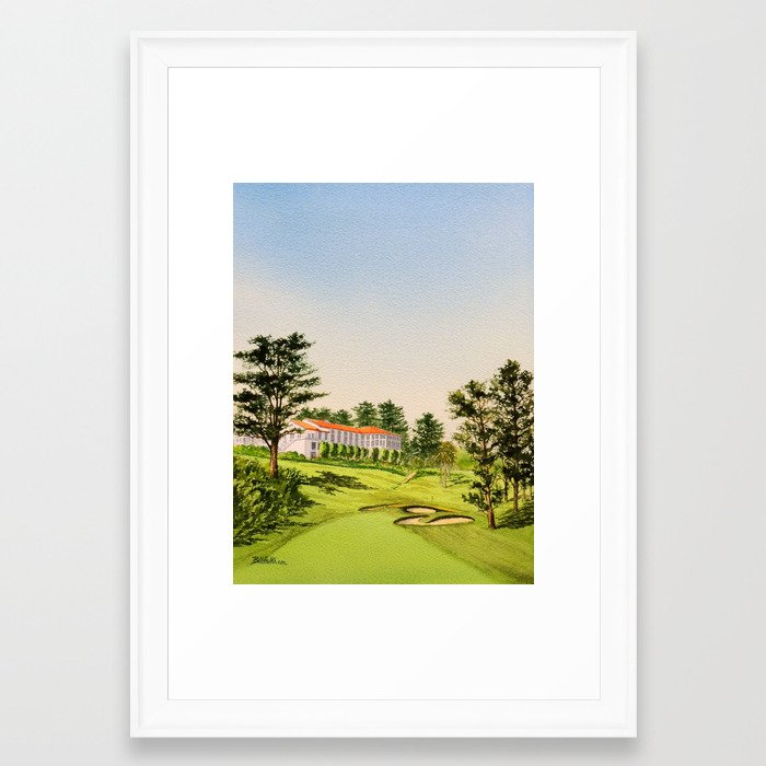 The Olympic Golf Course 18th Hole Framed Art Print by billholkham ...