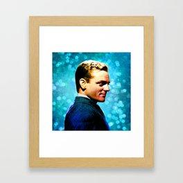 James Cagney, blue screen Framed Art Print