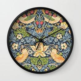 William Morris Strawberry Thief Restored Wall Clock