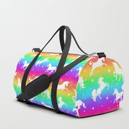 Rainbow Unicorn Happy-Fun-Time Duffle Bag