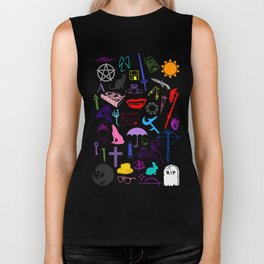 Buffy Symbology, Multi-color / Rainbow / PRIDE! Biker Tank