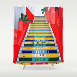 Rio de Janeiro, Selaron stairs Shower Curtain