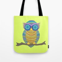 henna Tote Bags featuring Henna Owl by haleyivers