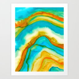 AGATE Inspired Watercolor Abstract 10 Art Print