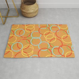 Vintage circles of happiness Rug