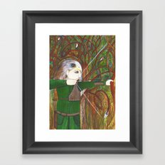 Red Kite Archer Framed Art Print