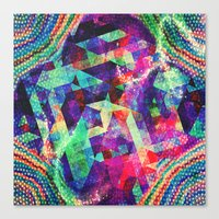 carnival Canvas Prints featuring Carnival by Truly Juel