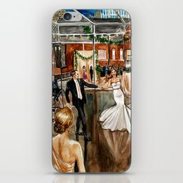 Britt & Jamie's Wedding Painting iPhone Skin