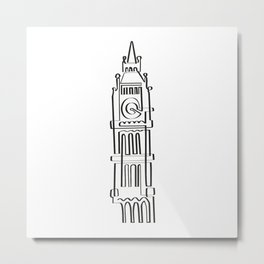 Big Ben in one draw Metal Print
