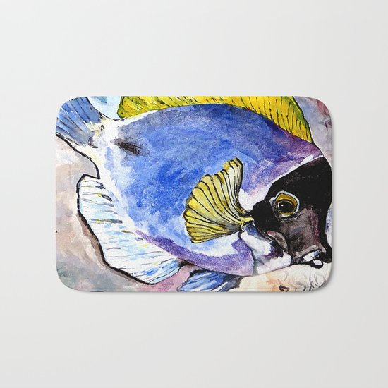 fish with yellow fin Bath Mat