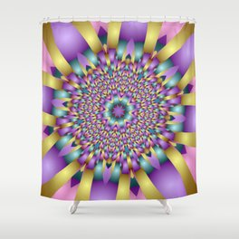 joy and energy -5- Shower Curtain