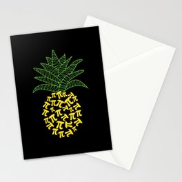 Pi-Neapple Pineapple Stationery Cards