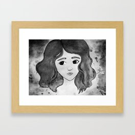 Celestine - Black and White Framed Art Print